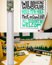 "27 "" x 24"" Wizard Wall film clings to indoor surfces reusable removable use both sides reposition dry erase sheets"