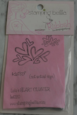 Lulu's Heart Cluster, Ketto, Stamping Bella Rubber Stamps