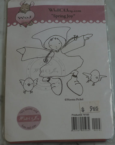 Spring Joy Rubber Stamp, Design by Norma Fickel, Whiff of Joy Rubber Stamps