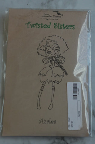 Azalea Rubber Stamp, Twisted Sisters by Sweet November Stamps