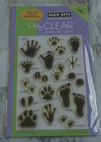 Animal Prints Stamp Set, Hero Arts Rubber Stamps