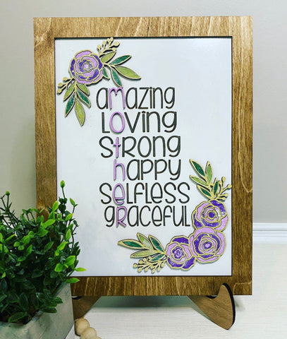 Mother's Day Floral Sign