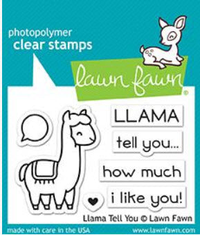 Llama Tell You Stamp Set, Lawn Fawn