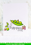Be Hap-Pea Stamp Set, Lawn Fawn