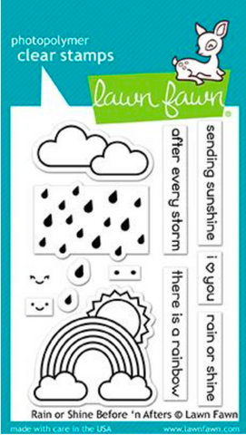 Rain or Shine Before N Afters Stamp Set, Lawn Fawn