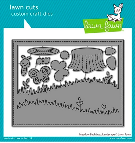 Meadow Backdrop:  Landscape Die, Lawn Fawn