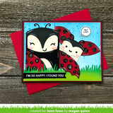 Tiny Gift Box Ladybug Add-On Die, Lawn Fawn