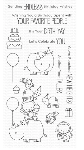 Birth-Yay Stamp Set, My Favorite Things Rubber Stamps