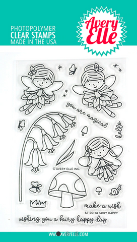 Fairy Happy Stamp Set, Avery Elle