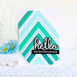 Nested Chevron Background Cling Stamp, Pinkfresh Studio