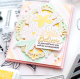 Nested Diamond Background Cling Stamp, Pinkfresh Studio