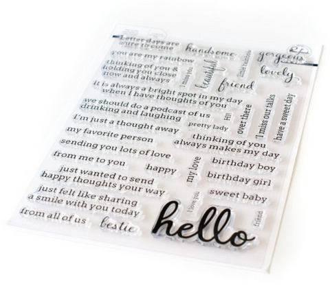 Simply Sentiments - Hello Stamp Set, Pinkfresh Studio