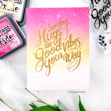 Hugs and Good Vibes Stamp Set, Pinkfresh Studio