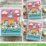 Reveal Wheel Unicorn Picnic Add-On Die, Lawn Fawn