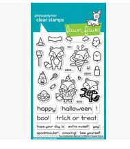 Fox Costumes Before 'n Afters Stamp Set, Lawn Fawn