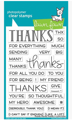 Thanks Thanks Thanks Stamp Set, Lawn Fawn