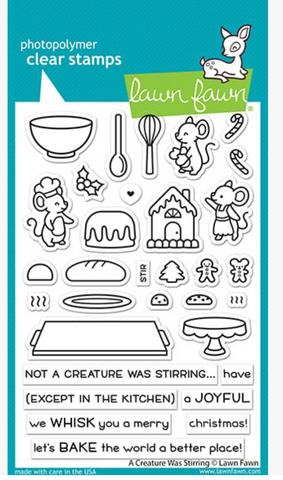 A Creature was Stirring Stamp Set, Lawn Fawn