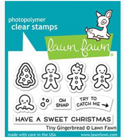 Tiny Gingerbread Stamp Set, Lawn Fawn