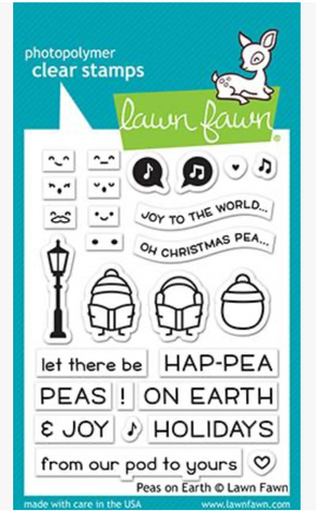 Peas on Earth Stamp Set, Lawn Fawn