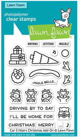Car Critters Christmas Add-On Stamp Set, Lawn Fawn