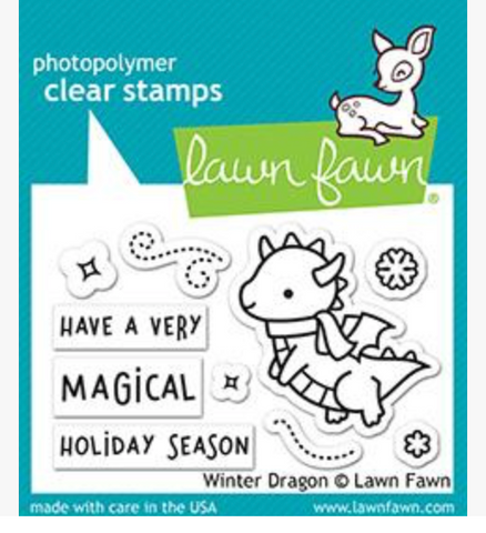 Winter Dragon Stamp Set, Lawn Fawn
