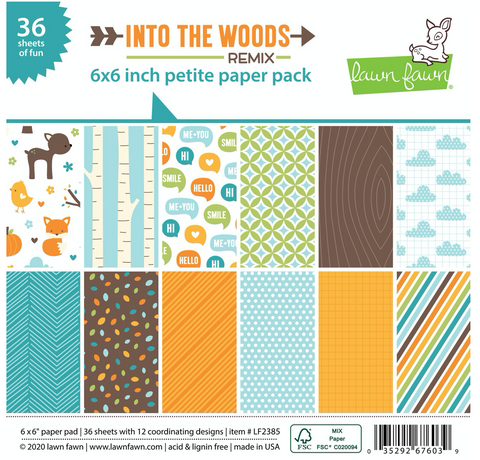 Into the Woods Remix Petite Paper Pack, Lawn Fawn