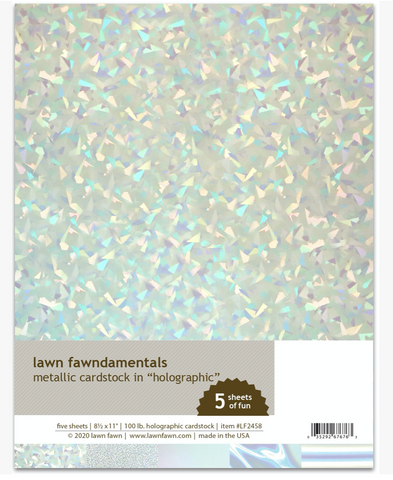 Metallic Cardstock, Holographic, Lawn Fawn