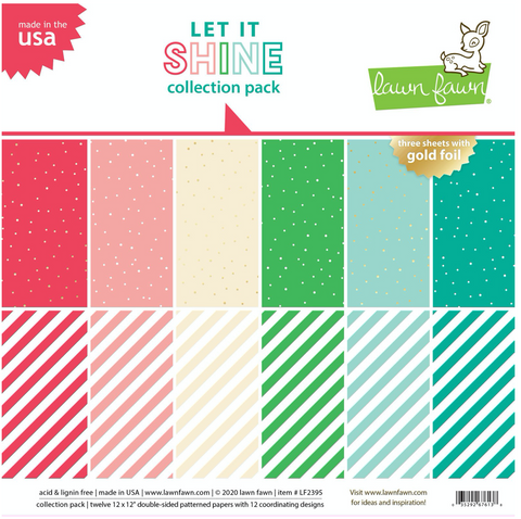 Let it Shine 12x12 Paper Pack, Lawn Fawn