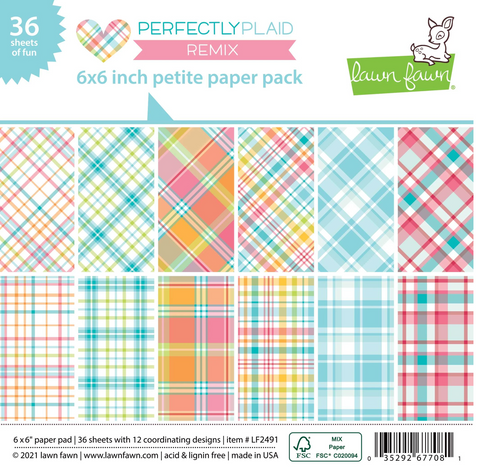 Perfectly Plaid Remix Petite Paper Pack, Lawn Fawn