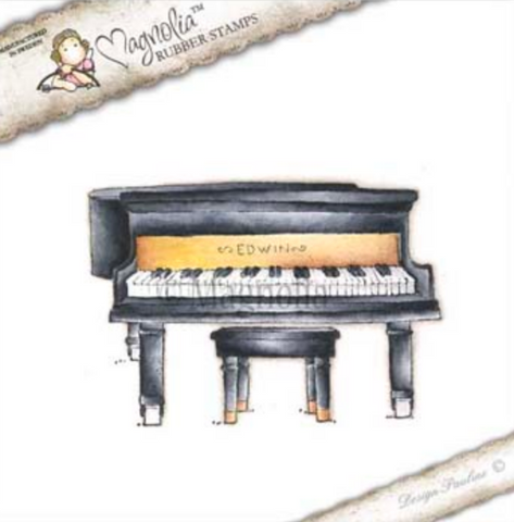 Grand Piano Rubber Stamp, Magnolia Rubber Stamps