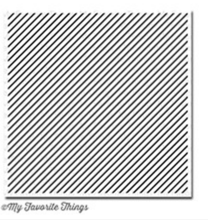 Diagonal Stripes Background Stamp, My Favorite Things Rubber Stamps