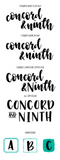 Bold and Brushy Uppercase and Lowercase Stamp Set, Concord and 9th