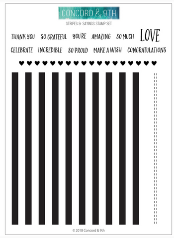 Stripes & Sayings Stamp Set, Concord and 9th