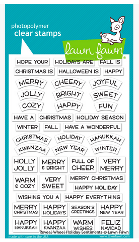 Reveal Wheel Holiday Sentiments, Lawn Fawn