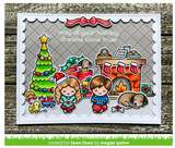 Holiday Helpers Stamps and Lawn Cuts Set, Lawn Fawn