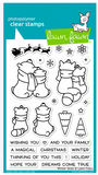 Winter Skies Stamps and Lawn Cuts Set, Lawn Fawn