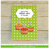 Caramel Apple Stamps and Lawn Cuts Set, Lawn Fawn