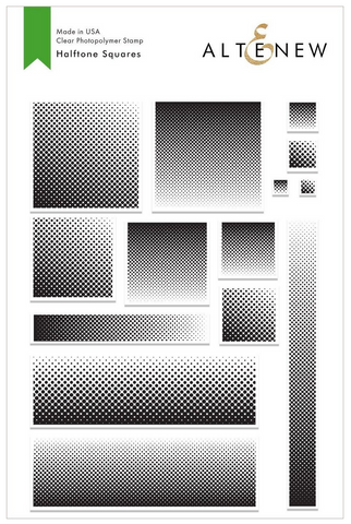 Halftone Squares Stamp Set, Altenew
