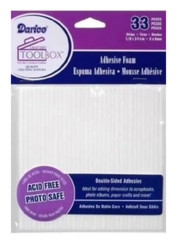 Adhesive Foam, 33 Double Sided Strips, Darice