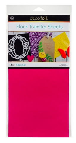 Thermo Web, Think Pink Flock Transfer Sheets, Deco Foil