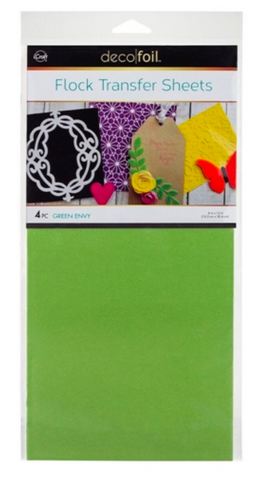 Thermo Web, Green Envy Flock Transfer Sheets, Deco Foil