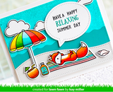Outside In Stitched Speech Bubbles Die, Lawn Fawn