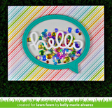 Stitched Speech Bubble Frames Die, Lawn Fawn