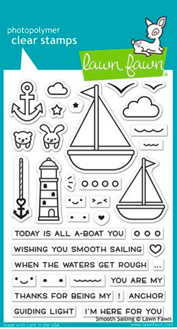 Smooth Sailing Stamp Set, Lawn Fawn