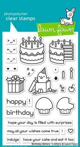 Birthday Before 'n Afters Stamp Set, Lawn Fawn