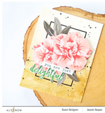 Build-A-Flower:  Camellia Japonica Stamp & Die Bundle, Altenew