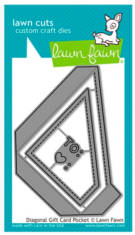 Diagonal Gift Card Pocket Die, Lawn Fawn