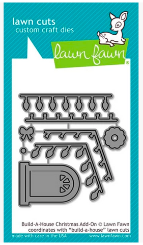 Build a House Christmas Add-On Die, Lawn Fawn