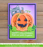 Outside In Stitched Pumpkin Die, Lawn Fawn