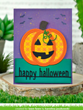 Happy Halloween Line  Border Die, Lawn Fawn